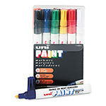 Uni-Ball Paint Opaque Oil Based Paint Marker, Medium Point, 12 Color Set
