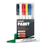 Uni-Ball Paint Opaque Oil Based Paint Marker, Fine Point, 6 Color Set