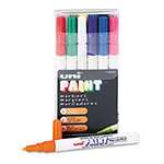 Uni-Ball Paint Opaque Oil Based Paint Marker, Fine Point, 12 Color Set