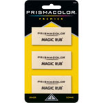 Prismacolor MAGIC RUB Art Eraser, Vinyl, 3/Pack