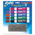 Expo® Low Odor Dry Erase 10 Marker Set, Chisel Tip, Assorted Colors
