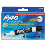 Expo® Low Odor Dry Erase Marker, Bullet Tip, Assorted, 4/Set