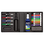 Expo® Dry Erase Marker/Eraser/Cleaner, Chisel/Fine, Assorted, 12/Set