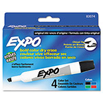 Expo® Dry Erase Markers, Chisel Tip, Assorted, 4/Set