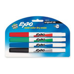 Expo® Dry-erase Markers, Fine Point, Nontoxic, 4/PK, Assorted