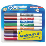 Expo® Low-Odor Dry-Erase Marker, Fine Point, Assorted, 8/Set