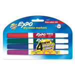 Expo® Low Odor Dry Erase Markers, Four Color Sets, Fine Point
