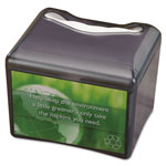 San Jamar Venue Napkin Dispenser w/Advertising Inset, 6 1/2x6 1/8x6 8/9, Cap: 200, Black