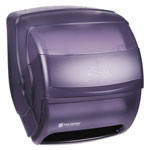 San Jamar Integra™ Lever Action Hard Roll Paper Towel Dispenser, Smoke Gray