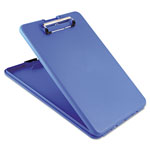 "Saunders Slimmate Clipboard, Rubber Grip, 1/2"" Cap, 3/4"" Storage, Blue"