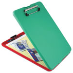 "Saunders Slimmate Show2Know Safety Organizer, 1/2"" Capacity, Holds 8 1/2 x 12, Red/Green"