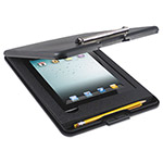 Saunders SlimMate Storage Clipboard with iPad 2nd Gen/3rd Gen Compartment, Black