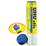UHU Adhesives Distribution Inc. UHU Stic Permanent Clear Application Glue Stick, .74 oz, Blue, 6/Pack