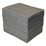 Spc GP MAXX Enhanced Sorbent Pads, .25gal, 15w x 19l, Gray, 100/Carton
