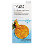 TAZO® Iced Tea Concentrate, Iced Peachy Green, 32 oz Tetra Pak, 6/Carton