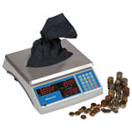 Salter Brecknell Electronic 60 lb. Coin & Parts Counting Scale, Gray