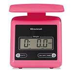 Salter Brecknell Electronic Postal Scale, 7 lbs Capacity, 6 4/5 x 5 3/5 Platform, Pink