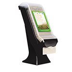 SCA Tissue Stand Napkin Dispenser, 5.8w x 7.8d x 6 1/4h, Black