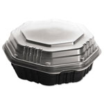 "Solo Hinged Deli Container, 9"", Black"