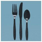 Solo Black Plastic Teaspoons, Bulk, Case of 10