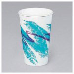 Solo 8 Oz Hot Paper Cups, Jazz Design, Pack of 20