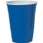 Solo 16 Oz Cold Plastic Cups, Blue, Pack of 1000