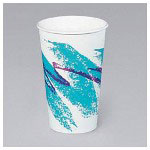 Solo 20 Oz Hot Paper Cups, Jazz Design, Pack of 1000