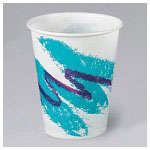 Solo 24 Oz Cold Paper Cups, Jazz Design, Pack of 1000