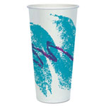 Solo Jazz Waxed Paper Cold Cups, 24 oz., Rolled Rim, 50/Pack