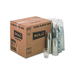 Solo 12 Oz - 14 Oz Cold Plastic Cups, Clear, Case of 1000