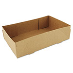 Southern Champion 4-Corner Pop-Up Food and Drink Tray, 8 5/8 x 5 1/2 x 2 1/4, Brown, 500/Carton