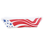 Southern Champion American Flag Paper Food Baskets, Red/White/Blue, 2 lb Capacity, 1000/Carton