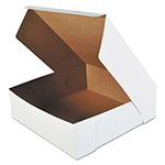 SCT Bakery Boxes, White, Paperboard, 16 x 16 x 5, 50/Carton