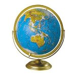"Advantus 12"" Madison World Globe, Metal Semi Meridian Mounting"