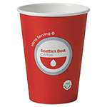 Seattle's Best® Hot Cups, 12 oz, White with Logo, 1000/Carton