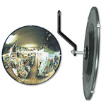 "See All Round 160° Convex Security Mirror, Adjustable Angle, 12"" for Small Areas"