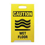 See All Economy Floor Sign, 12 x 14 x 20, Yellow/Black