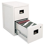 Sentry Fire Safe 2 Drawer Insulated Vertical File, 17 1/4w x 23 1/4d x 28h, Light Gray