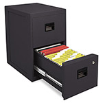 Sentry FireSafe 2 Drawer Insulated Vertical File, 171/4w x 231/4d x 28h, Black