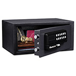Sentry Electronic Lock/Card Swipe Security Safe, 0.4 ft3, 15w x 11d x 7h, Black