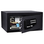 Sentry Electronic Lock/Card Swipe Security Safe, 1.1 ft3, 18w x 16d x 9h, Black