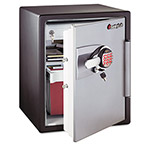 Sentry Fire Safe® OA5848 2.0 Cu. Ft. Capacity Electronic Safe, Black/Gunmetal Gray