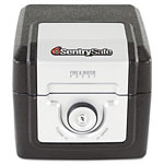 "Sentry Fire-Safe CD/DVD File, 8-7/8""h x 9-3/4"" w x 12-3/8"" d, Black"