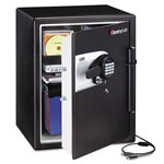 "Sentry Fire-Safe Water Resistant Safe, 23-3/4""h x 18-19/32""w x 19-5/16""d, Black"