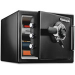 Sentry Fire-Safe 0.8 Cu. Ft. Combination with Key, 16 3/8 x 19 3/8 x 13 3/4, Black