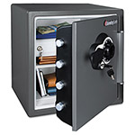 Sentry Combination Fire-Safe, 1.23 ft3, 16-3/8w x 19-3/8d x 17-7/8h, Gray
