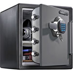 Sentry Electronic Fire-Safe, 1.23 ft3, 16-3/8w x 19-3/8d x 17-7/8h, Gray