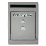 "Sentry Safe, Drop Slot, Dual Key Lock, 6"" x 12-1/4"" x 8-1/2"", Gray"