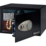 "Sentry X055 Electronic Safe w/ Lock&Key, 13-3/4"" x 10-5/8"" x 8-11/16"""