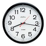 "Seth Thomas By Colibri 13 1/2"" Diameter Thinline Manager® Wall Clock, Black Case"